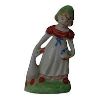 Porcelain Dutch Girl with Goose