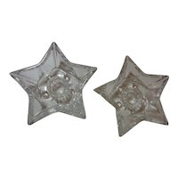 Hazel Atlas Glass Star Candle stick Holders