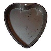 Vintage Ekco Heart Cake Pan