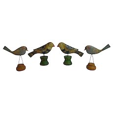 Folk Art Birds Metal