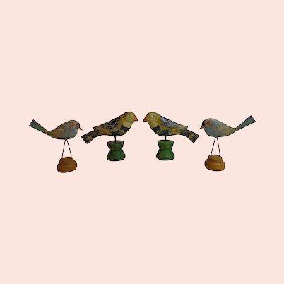 Folk Art Birds Metal