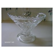 Anchor Hocking ~ Prescut Line ~  Pedestal ~ Bowl
