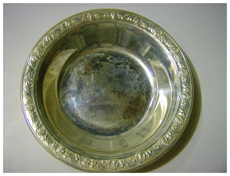 Reed Barton Silverplate Bowl Classic Rose Marys Menagerie