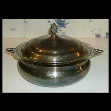 Sheffield Silver Co. ~ Covered Casserole ~ Made is U.S.A.