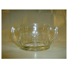 Imperial Depression Glass Star Open Sugar