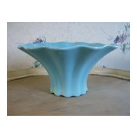 Red Wing Pottery Blue Luster Bowl 1946