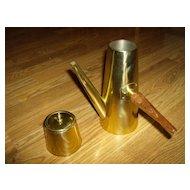 Brass Tea Pot and Brass Tea Caddy