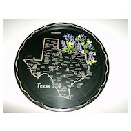 Tin State Souvenir Tray ~ Texas