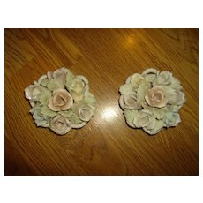Porcelain Rose Basket Perfumer