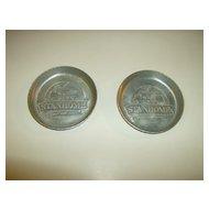 1950's Aluminum Stanhome Coasters Set of 2