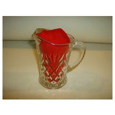 Pressed Glass Cream Pitcher