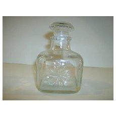 Pressed Glass Perfume Bottle ~ Owens-Illinois Glass Co.