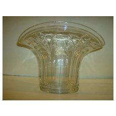 Pressed Glass Fan Shaped Vase