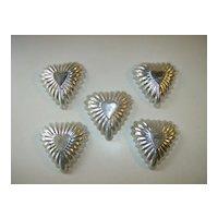Aluminum Tart Mold - Heart Shape - 1950's