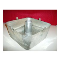 Square Aluminum Angel Food Cake Pan by Wear-Ever