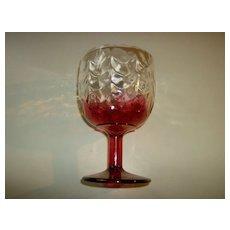 Cranberry Flash Glass Goblet