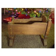 Hand Made Wood Doll Cradle