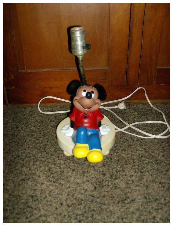 Marvelous Mickey Mouse Table Lamp ~ Walt Disney ~ 1960u0027s