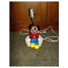 Mickey Mouse Table Lamp ~ Walt Disney ~ 1960's
