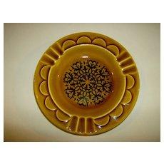 Amber & Brown Ceramic Ashtray