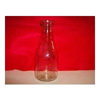 Duraglas Owens Illinois Milk Bottle ~ 1948