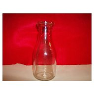 Glass Milk Bottle ~ 1 Pint ~ Lamb Glass Company