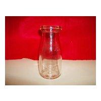 Glass Half Pint Milk Bottle - Thatcher Manufacturing Company - 1939