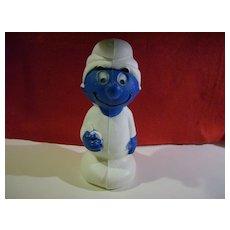 Smurf Plastic Bank  ~ 1982