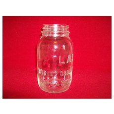 Atlas Strong Shoulder Mason Jar ~ Quart