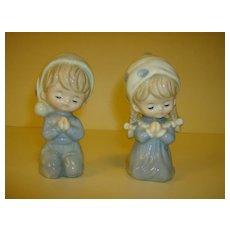 Enesco Porcelain Boy & Girl Praying