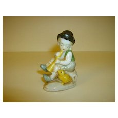 Boy with Recorder Figurine ~ Made in Japan ~ 1950's