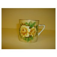 Lefton Brown Floral Coffee Mug
