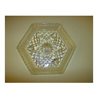 Anchor Hocking Wexford Footed Hexagonal Dish