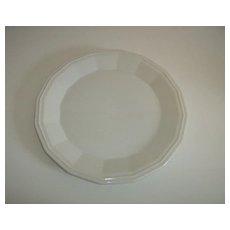 White Dover Ironstone Chop Plate/Platter ~ Homer Laughlin