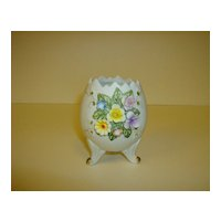 Lefton China Floral Egg Vase ~ Number 02592