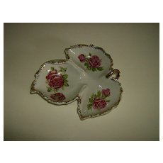 Ucagco China  Handled Leaf Dish ~ Made in Japan