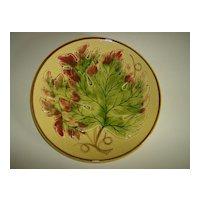 Majolica Plate ~ Oak Leaf ~ Made in Germany