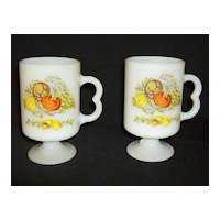 Spice of Life ~ Irish Coffee Mugs ~ Federal Glass Company