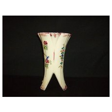 Hand Painted Footed Vase ~ Made in Japan
