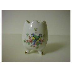 Porcelain 3-footed Egg Vase ~ Ardco ~ Made in Japan