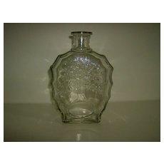 Anchor Hocking Tree of Life Whiskey Decanter Bottle