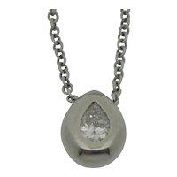 14K  Diamond Pendant with Necklace