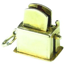 Vintage 14K Toaster Charm-Moveable