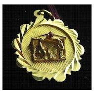 Vintage 14K Gold Nativity Set Disk Charm