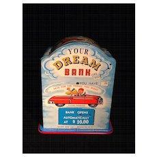 Dream Bank- 1950's tin bank