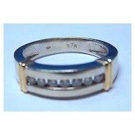 Gent's 14K WG & YG Diamond Ring / Wedding Band