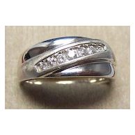 Gents 14K WG & 7 Stone Diamond Ring