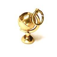 Vintage 14K Globe Charm