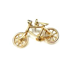 Vintage 14K Cruiser Bike with Moveable Wheels Charm