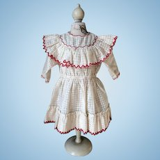 French all original doll dress.